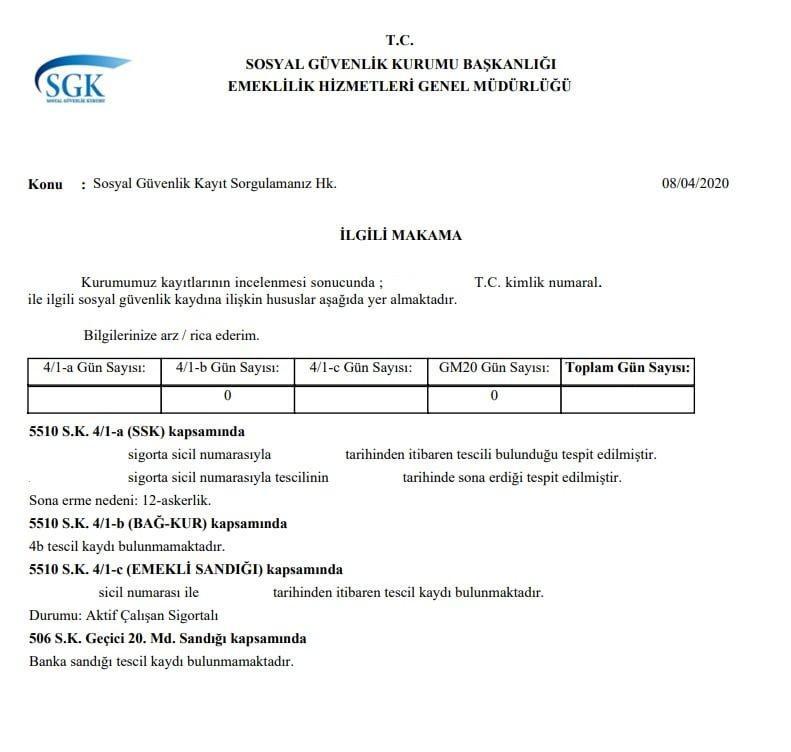 sgk kayıt belgesi